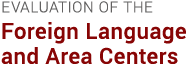 Evaluation of the Foreign Language and Area Centers