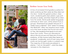 Outdoor Lesson Case Study 1
