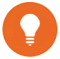 Icon of light bulb