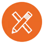 Icon of pencil and ruler