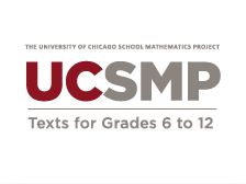 Picture of UCSMP Text for Grades 6 to 12
